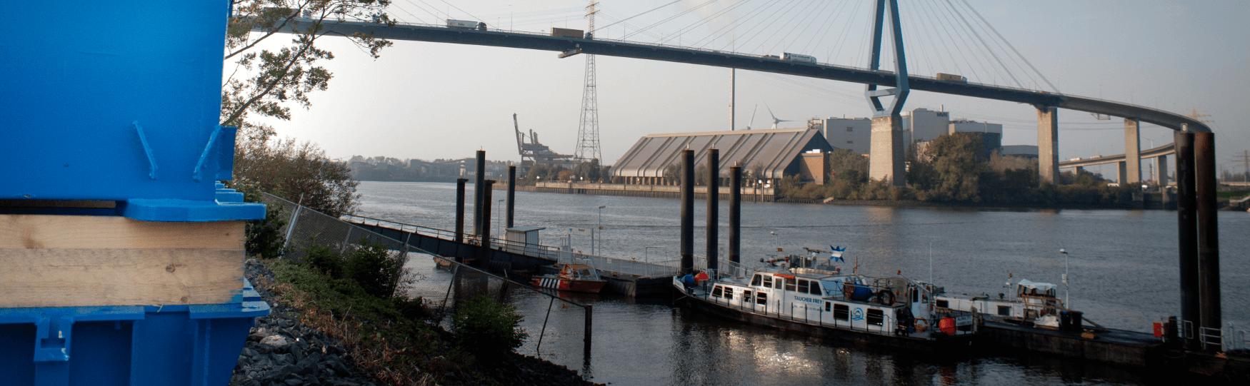 Schwimmplattform Taucherponton Hamburg